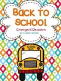 Back To School Emergent Readers
