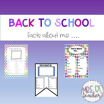 Back to school - Facts about me