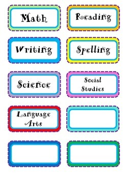 Back to school First Day Spiral Notebook and Folder Labels