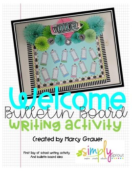 Back to school First day writing activity and Bulletin Board