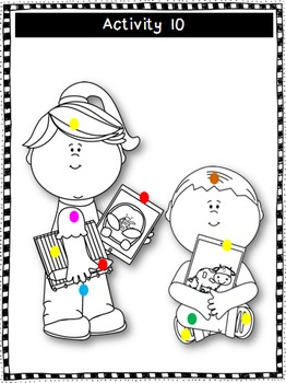 Back to School Following Directions Worksheets