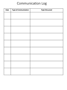Back to school Forms Student Parent Information Sign-In Sheet