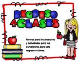Back to School  Activities and More- Regreso a clases actividades y más