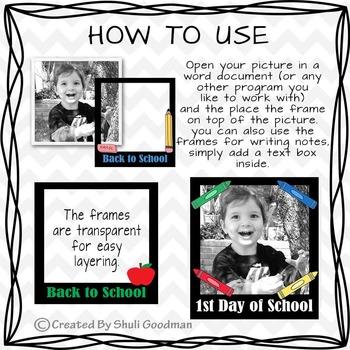 Back to school Frames clip art - transparent BTS frames