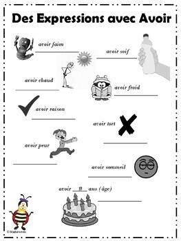 FRENCH: Back to school French unit  with Avoir for teachers and homeschoolers