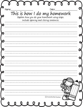 "Back to school ""How-To"" Writing Prompts"