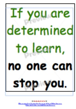 Back to school Inspiration posters with updates for life