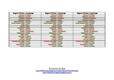 Back to school Italian bookmarks for region capitals reference