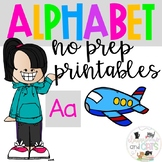 Back to school Letter of the Week Alphabet - Aa