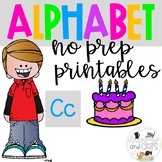 Back to school Letter of the Week Alphabet- Letter Cc