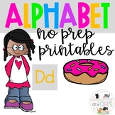Back to school Letter of the Week Alphabet- Letter Dd