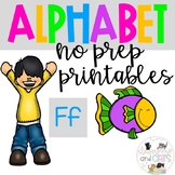 Back to school Letter of the Week Alphabet- Letter Ff