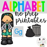 Back to school Letter of the Week Alphabet- Letter Gg