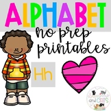 Back to school Letter of the Week Alphabet- Letter Hh