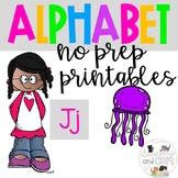 Back to school Letter of the Week Alphabet- Letter Jj