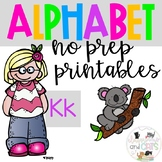Back to school Letter of the Week Alphabet- Letter Kk