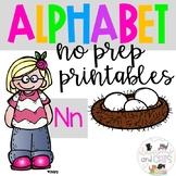 Back to school Letter of the Week Alphabet- Letter Nn