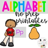 Back to school Letter of the Week Alphabet- Letter Pp