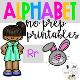 Back to school Letter of the Week Alphabet- Letter Rr