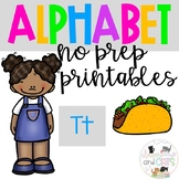 Back to school Letter of the Week Alphabet- Letter Tt