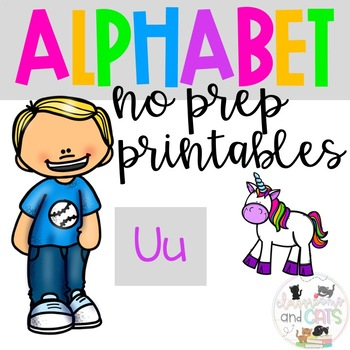 Back to school Letter of the Week Alphabet- Letter Uu