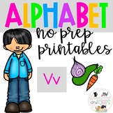Back to school Letter of the Week Alphabet- Letter Vv