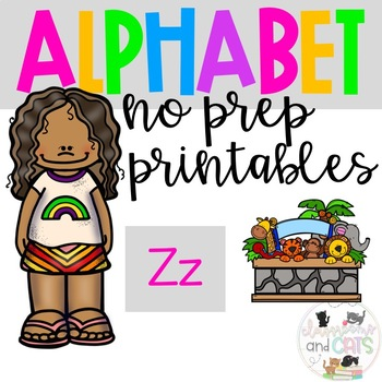 Back to school Letter of the Week Alphabet- Letter Zz