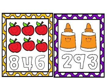 Back to school Math Counting Cards