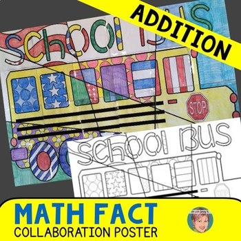 Back to School Math Art Integration Activity: Addition Review Poster