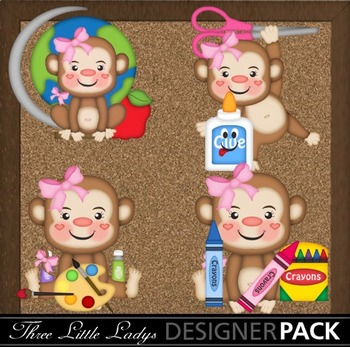Back to school Monkey Girls