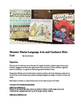 Back-to-school Monster Mania Mini-Unit