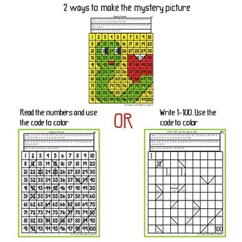 Back to school Mystery Picture Freebie
