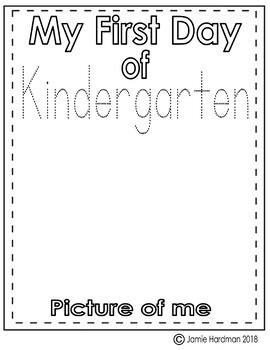 Back to school NO PREP  Kindergarten