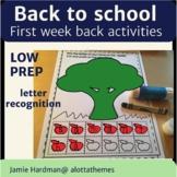 Back to School first day activities in Kindergarten