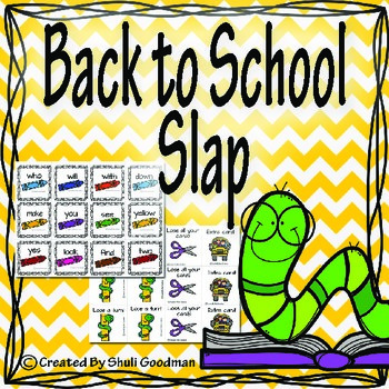 Back to school Slap, sight words game