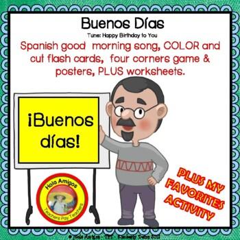 Spanish greetings worksheet teaching resources teachers pay teachers back to school spanish greetings song worksheets activities buenos das m4hsunfo