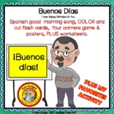 Back to school Spanish greetings song, worksheets, activit