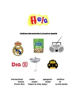 Back to school (Spanish) international words / palabras internacionales