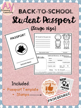 Back-to-school Student Passport Activity