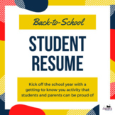 Back-to-school Student Resume - perfect for the first day