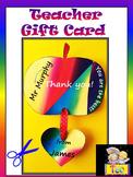 Back to school - Apple -Teacher Gift Card - Craft