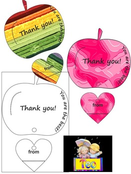 Back to school - Apple -Teacher Gift Card - Craft