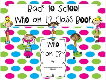 Back to school - Who Am I? class book