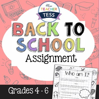"""Back to school: """"Who am I?"""" Assignment"""