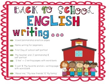 Back to school - Writing