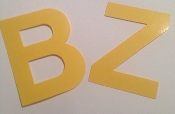 "Back to school Yellow laminated alphabet 4"" letters"