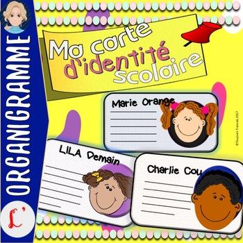 Back to school activity (Carte d'identité scolaire)