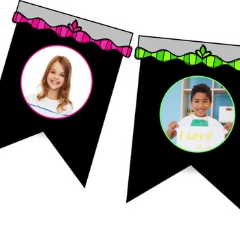 Back to school Multiple Use Banner Templates and Editable flags