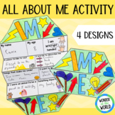 Back to school all about me foldable activity