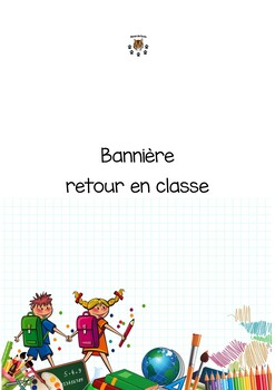 Back to school banner - bannière retour en classe